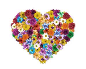 Flower arrangement is Heart-shaped