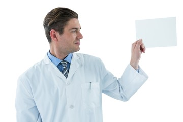 Doctor pretending to be examine x-ray