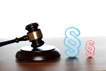 Symbole für Gesetzgebung