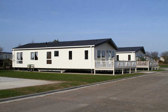 Large caravan site holiday or residential lodges.