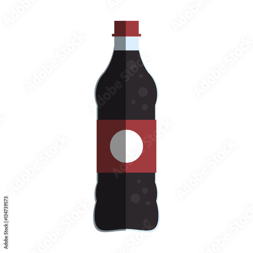 """Soft drink bottle icon over white background. colorful ..."