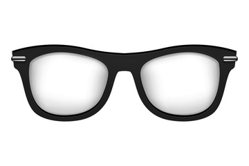 Realistic vector glasses in black white