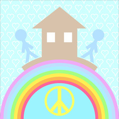 House and love the basis of  happiness. It is a symbol for your website design, logo, application user interface..