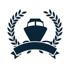 cruice boat travel isolated icon vector illustration design