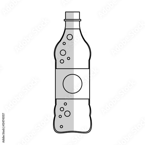 """soft drink bottle icon over white background. vector ..."
