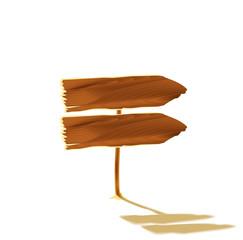Wooden pointer, isolated illustration