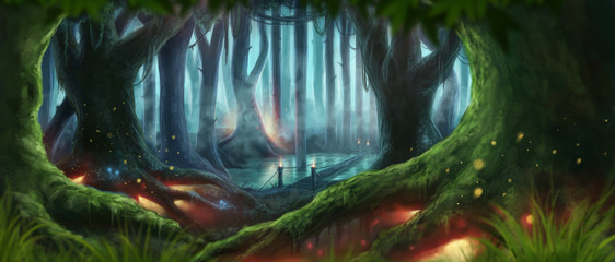 Fantasy Forest Illustration