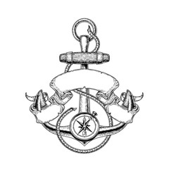 illustration nautical anchor