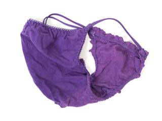 Violet panties isolated