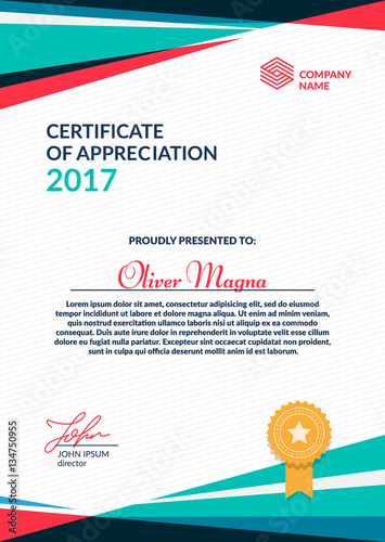Certificate of appreciation template cool geometric design layered certificate of appreciation template cool geometric design layered eps10 vector yadclub Gallery