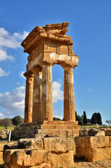 Italian destination, archeological site in Sicily, Valley of Temples
