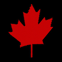Maple leaf vector icon. Abstraktny red maple leaf.