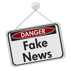 Fake news danger sign