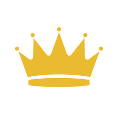 Cartoon illustration of crown vector icon for web design