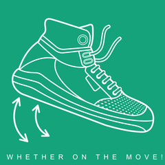 Vector illustration of sneakers