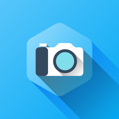 simple illustration of camera icon in flat style