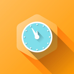 simple illustration of clock icon in flat style