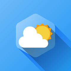 simple illustration of weather icon in flat style