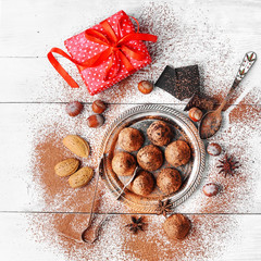 Chocolate truffles candy