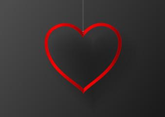 heart frame paper vector