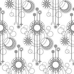 Astrology Modern Seamless Pattern