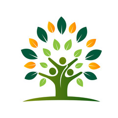 People Green Tree Logo