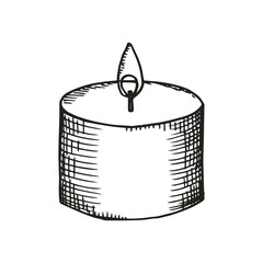 candle thick sketch on a white background. vector illustration