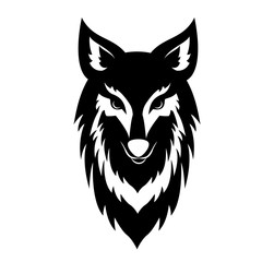 Black Wolf Face Logo