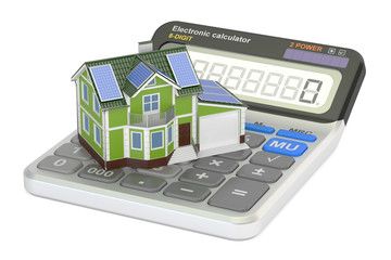 saving energy consumption for house, efficiency from solar panel