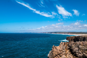 Portugal - Long coastline along the Atlantic ocean
