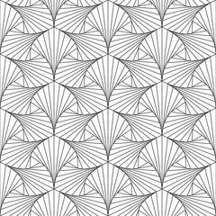 Thin line seamless geometric vector pattern