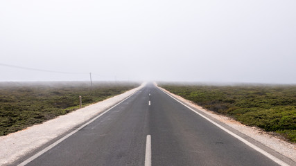 Portugal - Highway in the fog