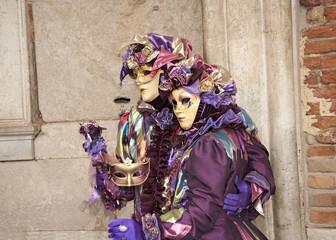 Masks at Venice Carnival .