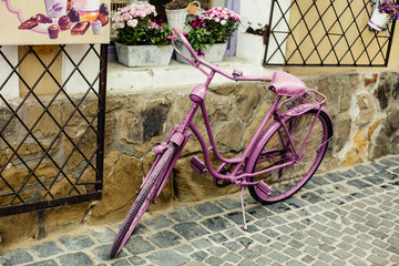 vintage bike in street