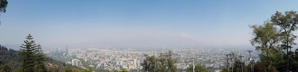 Cidade de Santiago, no Chile.