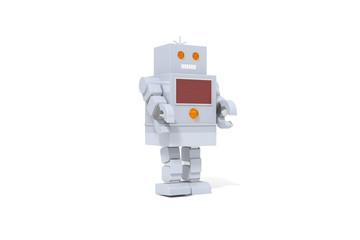 Toy Robot, White Background