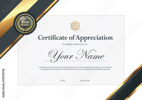 Certificate Vector Luxury Template Stock Image And Royalty Free