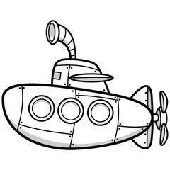 Cartoon Sub Illustration