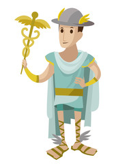 hermes mercury greek roman messenger god