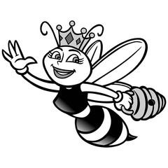 Queen Bee Illustration