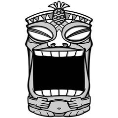 Tiki Mouth Illustration