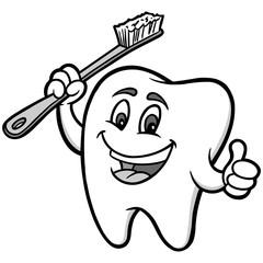 Tooth Mascot Illustration