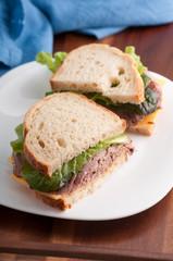 deli style roast beef sandwich
