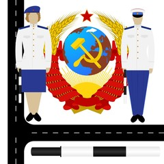 Traffic policemen in the USSR-1