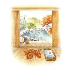 日本 温泉旅行 紅葉