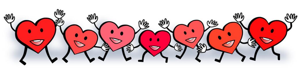 Hearts Love Happy Valentine's Day Design
