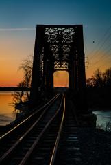 train trestle sunset