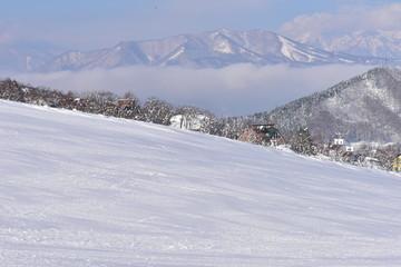 木島平スキー場から見た風景