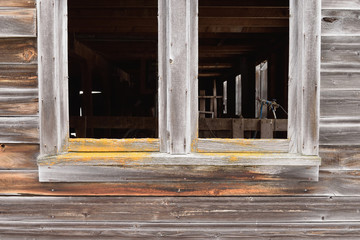 Worn Siding and Window on Barn