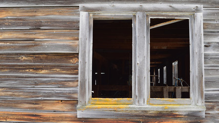 Looking in Old Barn Window